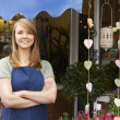Portrait Of Female Owner Standing Outside Florist — Foto de Stock   #72652205