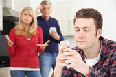 Mature Parents Frustrated With Adult Son Living At Home — Stock Photo