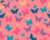 Фон бабочки. вектор бесшовный образец — Cтоковый вектор