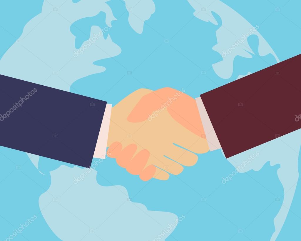 图.国际合作.矢量图