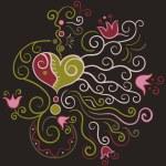 Floral heart - vector Illustration — Stock Vector #68252765