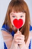 Girl  valentines day — Stock Photo