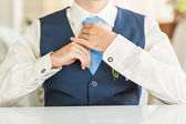 Groom on wedding — Stock Photo