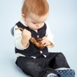 Little boy with pipeful, — Stock Photo #64387363