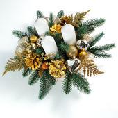 De kerst kaarsen — Stockfoto