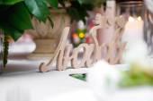 Wedding words love — Stock Photo