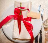 Napkin on the table — Stock Photo