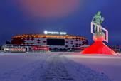 MOSCOW, RUSSIA - DECEMBER 27, 2014: Football stadium Spartak Ope — Foto de Stock