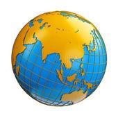 Ziemi glob godło. — Zdjęcie stockowe