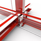 Red and white Structure — Stock Photo
