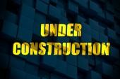 Onder constructie gele inscriptie — Stockfoto