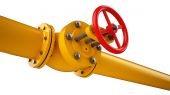 Pipeline and stop valve — Foto Stock