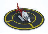 Helicopter on helipad — Stock Photo