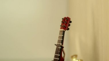 Souvenir little guitar — Stock Video