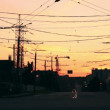 Sunset above the crossroads. — Vídeo de stock #68169857