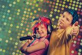 Vintage disco children — Stockfoto