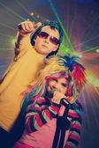 Vintage disco children — Stock Photo