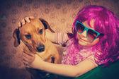 Vintage little girl — Stok fotoğraf