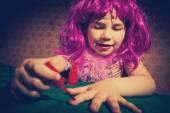 Vintage little girl — Stock Photo