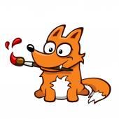 Cute fox — Stock Vector