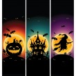 Halloween banners voor uw ontwerp — Stockvector