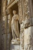 Statue from Library of Celsus — Stock Photo