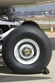 Landing Gear of an Airplane — Stock Photo
