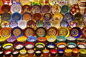 Turkish Ceramics from Spice Bazaar, Istanbul — Stock Photo