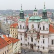 St. Nicholas Church from Old Town Square, Prague, Czech Republic — Stock Photo #53410263