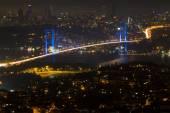 Istanbul Bosphorus Bridge from Camlica Hill — Stock Photo
