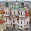 St. Nicholas Church from Old Town Square, Prague, Czech Republic — Stock Photo #53482325
