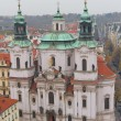 St. Nicholas Church from Old Town Square, Prague, Czech Republic — Stock Photo #53768935