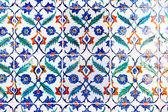 Handmade Blue Tiles from Topkapi Palace — Stock Photo