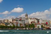 Karakoy and Galata Tower — Stock Photo