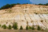 Cracked sandstone hill — Stock Photo