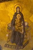 Apse mosaic of the Theotokos, Hagia Sophia — Stock Photo