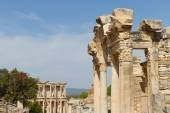 Temple of Hadrian and Library of Celsus in Ephesus, Turkey — Zdjęcie stockowe