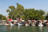 Boats in Dalyan River — 图库照片