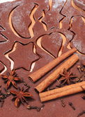 Spice and accessories for baking on dough for gingerbread — Stockfoto