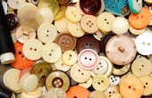 Collection of various sewing buttons — Stock Photo