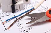 Acessórios para trabalhos de engenharia na construção de desenho — Fotografia Stock