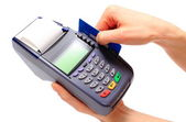 Paying with credit card, finance concept — Stock Photo
