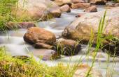 Creek water flowing and the rocks — Stock Photo