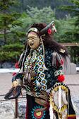 Traditional Native Blackfoot Chief — Stock Photo