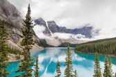 Moraine Lake and Valley of the Ten Peaks in Banff National Park — Stock Photo
