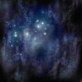 Pleiades (Seven Sisters) in the Taurus Constellation — Foto de Stock