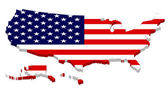 Complete USA Map with Flag Overlay — Stock Photo