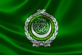 Close-up of League of Arab States' Flag — Stock Photo