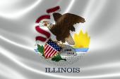 Illinois zustand-markierungsfahne — Stockfoto