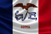 Iowa state flagga — Stockfoto